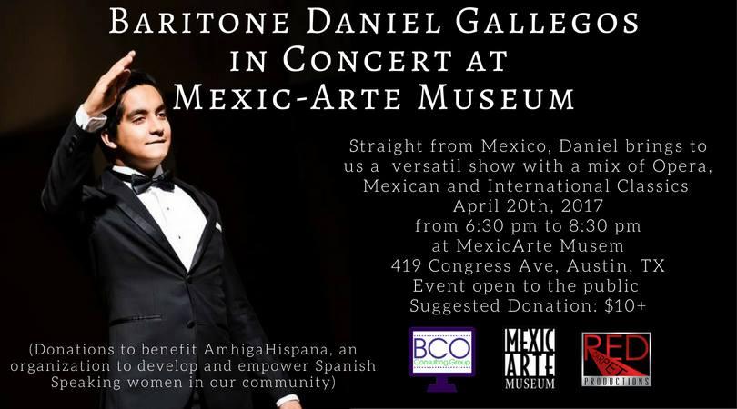 Baritone Daniel Gallegos en Concierto en Mexic-Arte Museum