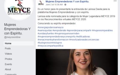 Larissa Davila, Conociendo su espíritu emprendedor.